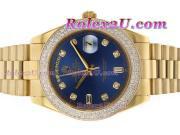 Replique Rolex Day-Date II eta suisse 2836 Mouvement diamant cz lunette avec une vadrouille ligne 1890