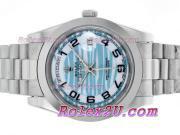 Replique Rolex Day-Date II eta suisse 2836 Mouvement d'or plein de diamants cz lunette avec cadran or 2352