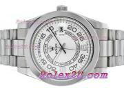 Replique Rolex Day-Date II eta suisse 2836 Mouvement d'or plein de diamants cz lunette avec cadran bleu 2354
