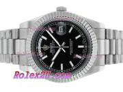 Replique Rolex Day-Date II eta suisse 2836 Mouvement d'or plein de diamants cz lunette avec cadran blanc 2358