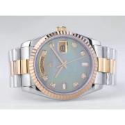 Replique Rolex Day-Date eta suisse 2836 diamants mouvement de marquage et de la lunette avec cadran bleu 9860