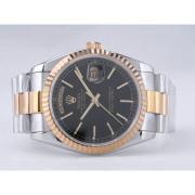 Replique Rolex Day-Date eta suisse 2836 diamants mouvement de marquage et de la lunette avec cadran bleu ordinateur 9862