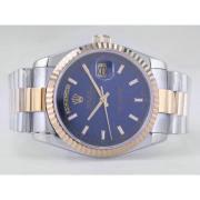 Replique Rolex Day-Date Swiss ETA 2836 Mouvement de-romaine bleu vadrouille ligne de marquage 10311