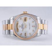 Replique Rolex Day-Date eta suisse 2836 le mouvement avec la lumière bleue-romaine ligne de marquage 10314