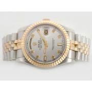 Replique Rolex Day-Date eta suisse 2836 Mouvement cadran noir numéro de marquage 10347