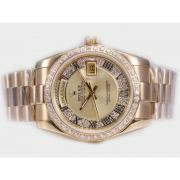Replique Rolex Day-Date eta suisse 2836 le mouvement avec une vadrouille dial-clé de marquage 10351