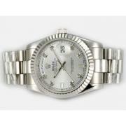 Replique Rolex Day-Date eta suisse 2836 Mouvement cadran bleu-adhésive de marquage 10359