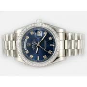 Replique Rolex Day-Date eta suisse 2836 Mouvement cadran noir numéro de marquage 10361