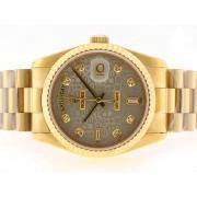Replique Rolex Daytona Valjoux 7750 en Asie du chronographe en or mouvement avec cadran blanc 15763