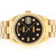 Replique Rolex Daytona chronographe automatique avec cadran noir 15808