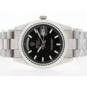 Replique Rolex Daytona lunette de diamants chronographe automatique avec cadran blanc 16696