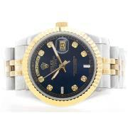 Replique Rolex Daytona diamants lunette chronographe automatique avec cadran météorite 16697