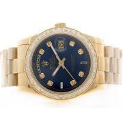 Replique Rolex Daytona diamants lunette automatique chronographe avec cadran jaune et le modèle dame sangle 16698