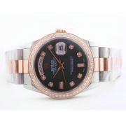 Replique Rolex Daytona diamants lunette automatique chronographe avec cadran rose et le modèle dame sangle 16700