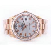 Replique Rolex Daytona automatique chronographe diamant marquage avec cadran noir 16703