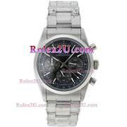 Replique Rolex Daytona chronographe automatique complète café or brun lunette bâton index diamants avec cadran blanc 1036
