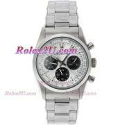 Replique Rolex Daytona chronographe automatique complète café or brun lunette bâton index diamants avec cadran brun 1038