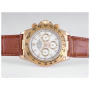 Replique Rolex Daytona de travail boîtier noir or cadran de chronographe avec lunette chiffres diamants arabe 9618