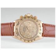 Replique Rolex Daytona ligne de marquage - autocollant de diamant avec lunette noire bracelet noir chronographe de travail le cas d 'or 9617