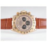 Replique Rolex Daytona de travail or le cas du chronographe avec cadran noir - le marquage des diamants lunette sertie de diamants 9620