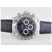 Replique Rolex Daytona travaillant à plein d'or chronographe avec cadran noir-adhésive de marquage verre saphir 9645