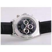 Replique Rolex Daytona travaillant à plein d'or chronographe avec cadran blanc-adhésive de marquage verre saphir 9654