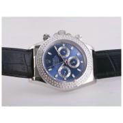 Replique Rolex Daytona plein chronographe en or de travailler avec cadran blanc-nombre de marquage verre saphir 9656