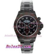 Replique Rolex Daytona travail lunette sertie de diamants chronographe et marqueurs diamant rose au bleu de vadrouille rose bracelet en cuir-ligne 1042