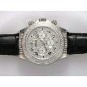 Replique Rolex Daytona chronographe complet de diamant d'or marquage automatique 12720