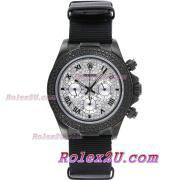 Replique Rolex Daytona chronographe automatique complet marqueurs nombre pvd avec lunette sertie de diamants et le cadran 1046