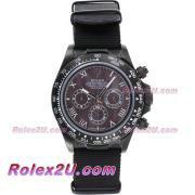 Replique Rolex Daytona chronographe automatique complet pvd lunette romaine index diamants avec cadran blanc 1049