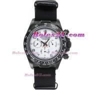Replique Rolex Daytona chronographe automatique complet pvd lunette romaine index diamants avec cadran météorite 1050