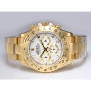 Replique Rolex Daytona chronographe automatique à deux diamants ton marquage avec cadran noir 13663