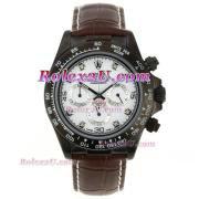 Replique Rolex Daytona chronographe automatique cz lunette nombre index diamants avec cadran ordinateur 1712