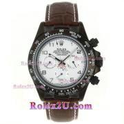 Replique Rolex Daytona chronographe automatique cz lunette romaine index diamants avec cadran blanc 1713