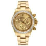 Replique Rolex Daytona chronographe en or rose de travail marqueurs nombre de cas avec bracelet en cuir blanc d'accès à distance 18223