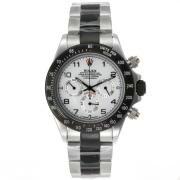 Replique Rolex Daytona travail chronographe PVD noir lunette nombre de cas index diamants avec un diamant dial-bracelet en cuir 18774
