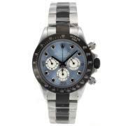 Replique Rolex Daytona travail chronographe pvd boîtier noir lunette romaine index diamants avec un diamant dial-bracelet en cuir 18775