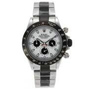 Replique Rolex Daytona travail chronographe pvd boîtier noir lunette romaine index diamants avec bracelet en cuir bleu-ligne de diamants 18777