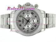Replique Rolex Daytona travail chronographe pvd marqueurs romaine avec cadran noir 1734
