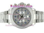 Replique Rolex Daytona travail chronographe pvd marqueurs nombre de cas avec cadran noir 1736