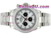 Replique Rolex Daytona travail chronographe pvd marqueurs nombre de cas avec cadran noir 1729