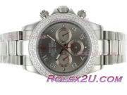 Replique Rolex Daytona travail chronographe pvd marqueurs nombre de cas avec cadran gris 1741