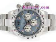Replique Rolex Daytona chronographe travailler avec cadran noir et bracelet 3629