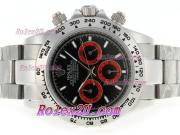Replique Rolex Daytona chronographe travailler avec cadran noir et bracelet 3634