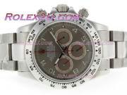 Replique Rolex Daytona chronographe travailler avec cadran noir et bracelet 3637