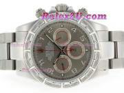 Replique Rolex Daytona chronographe automatique pvd lunette sertie de diamants pleine avec des marqueurs de composer le numéro-noir 3940