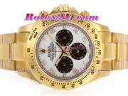 Replique Rolex Daytona chronographe automatique pvd lunette sertie de diamants pleine avec des marqueurs de dial-romains noirs 3942