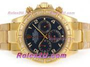 Replique Rolex Daytona chronographe automatique pvd lunette sertie de diamants pleine avec des marqueurs de dial-bâton noir 3943