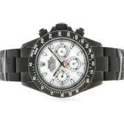 Replique Rolex Daytona travail chronographe pvd lunette sertie de diamants pleine de bleu-noir diamant vadrouille ligne de marquage 4040